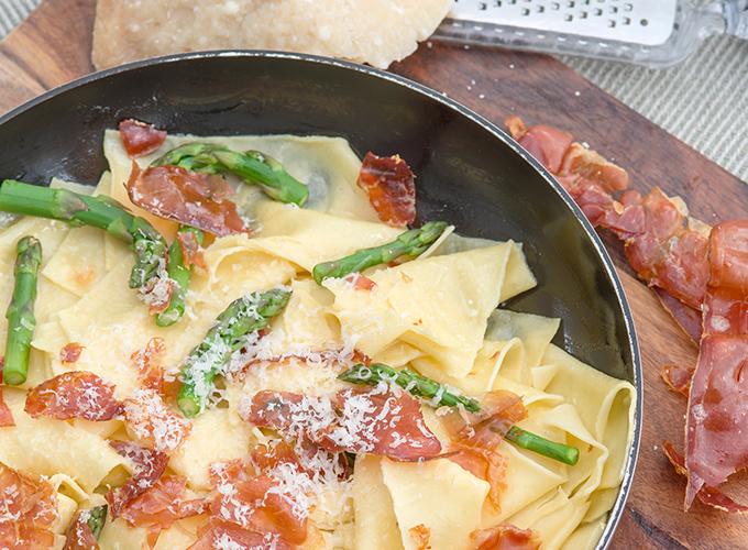 Image of Matagliati with Asparagus, Prosciutto & Pecorino