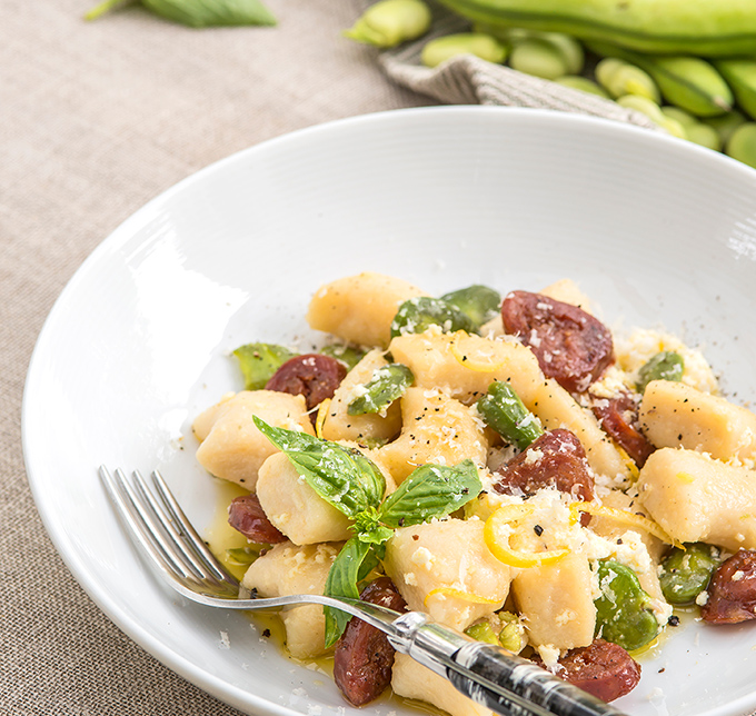 Image of Potato Gnocchi, Salsice & Broad Beans
