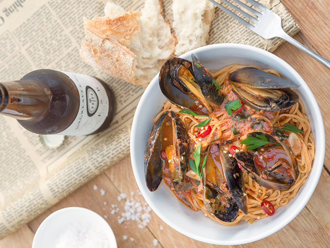 Image of Chilli Linguini with Mussels